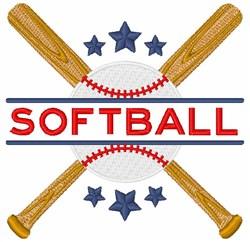 Softball embroidery design