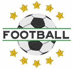 Soccer Football embroidery design