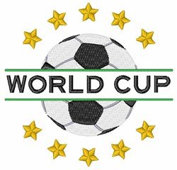 World Cup embroidery design