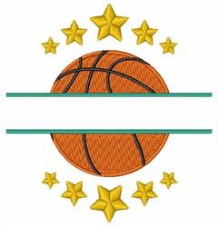 Basketball Split Frame embroidery design