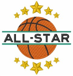 All-Star embroidery design