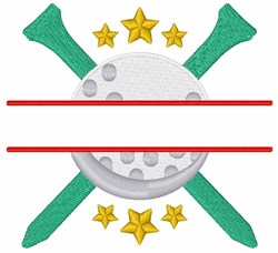 Golf Split Frame embroidery design