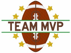 Football Team MVP embroidery design
