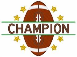 Football Champion embroidery design