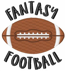 Fantasy Football embroidery design