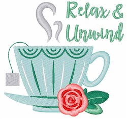 Relax & Unwind embroidery design