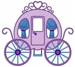 Cinderella Carriage embroidery design