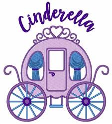 Cinderella embroidery design