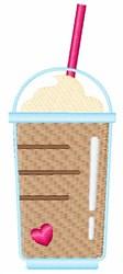 Frappuccino Coffee embroidery design