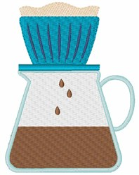 Pour Over Coffee embroidery design