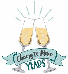 Cheers To More Years embroidery design