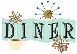 Retro Diner Sign embroidery design