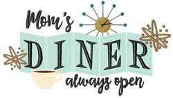 Moms Diner embroidery design