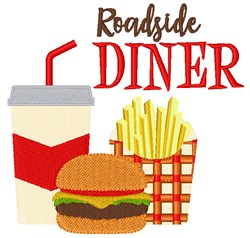 Roadside Diner embroidery design