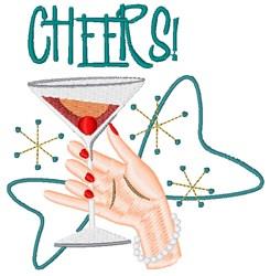 Manhattan Cheers embroidery design