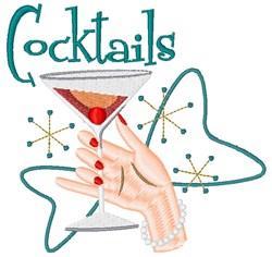 Retro Cocktails embroidery design