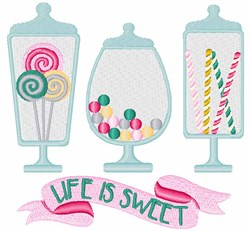 Life Is Sweet embroidery design