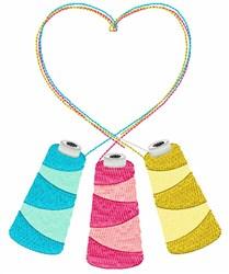 Thread Cones embroidery design