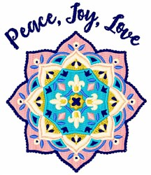 Peace Joy Love embroidery design