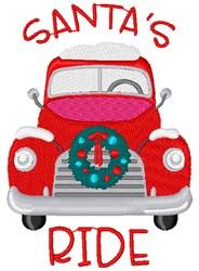 Santas Ride embroidery design