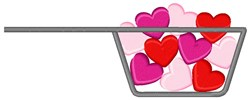 Hearts Measuring Cup embroidery design