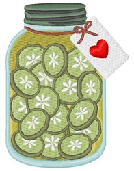 Homemade Pickles embroidery design