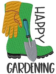 Happy Gardening embroidery design