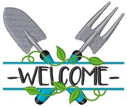 Welcome Garden embroidery design