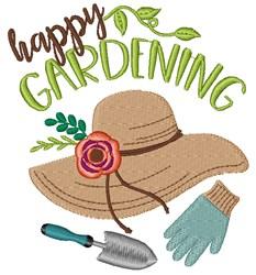 Happy Gardening embroidery design