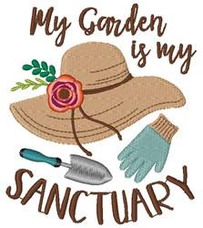 My Sanctuary, My Garden embroidery design