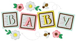 Baby Blocks embroidery design
