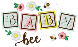 Baby Bee embroidery design