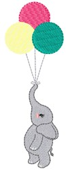Elephant & Balloons embroidery design
