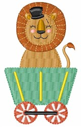 Circus Lion Train embroidery design