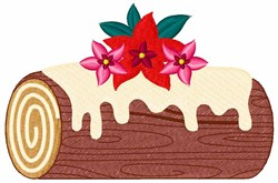 Holiday Yule Log embroidery design