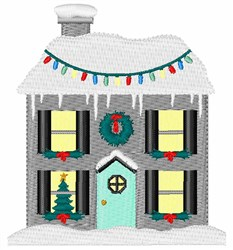 Christmas House embroidery design