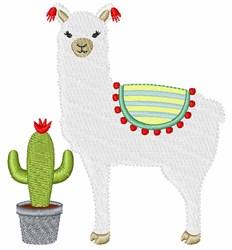 Alpaca & Cactus embroidery design