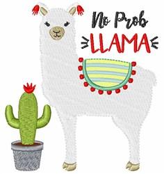 No Prob Llama embroidery design