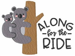 Along For The Ride embroidery design