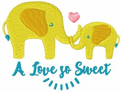 A Love So Sweet embroidery design