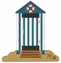 Beach Changing Room embroidery design