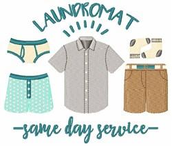 Laundromat Service embroidery design