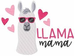 Llama Mama embroidery design