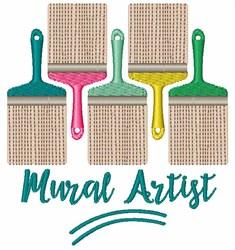 Mural Artist embroidery design