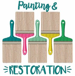 Painting & Restoration embroidery design