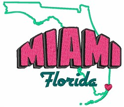Miami Florida embroidery design