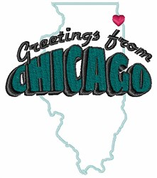 Chicago Greetings embroidery design