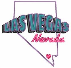 Las Vegas Nevada embroidery design