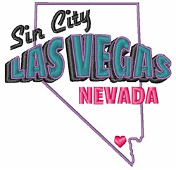 Sin City embroidery design