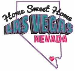 Sweet Home Las Vegas embroidery design